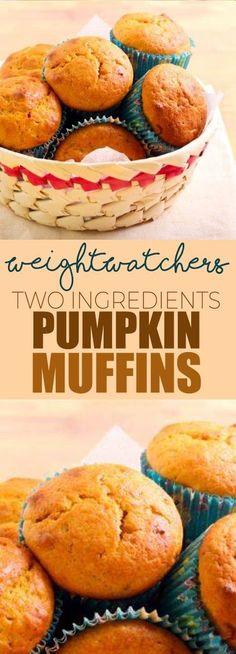 Weight Watcher's 2 Ingredients Pumpkin Muffins!!! - 22 Recipe