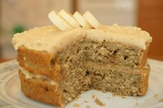 Banana-Coconut Cake with Agave Frosting-gluten free, dairy free and no refined sugar!