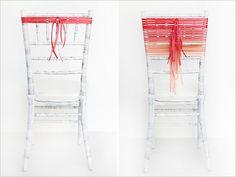 diy ribbon wrapped chair