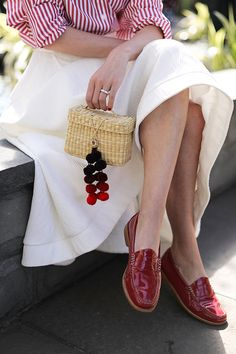 Bag: Nannacay (see more of my favorite straw and basket bags for spring here). Skirt: CMEO. Shoes: G.H. Bass Loafers (I also have them in this adorable pink- as seen here and here). Top: Petersyn...Read More