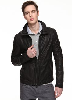 Men\'s Leather Jackets - Click on image to visit POOZ.com
