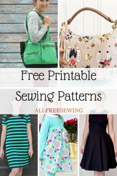 We have a ton of printable sewing patterns and we promise to keep adding more! 45 Free Printable Sewing Patterns is sure to hold your next project. Kids Clothes Patterns, Dress Sewing Patterns, Vintage Sewing Patterns, Clothing Patterns, Pattern Dress, Skirt Patterns, Coat Patterns, Blouse Patterns, Free Printable Sewing Patterns