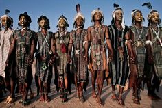 The Wodaabe women of Niger judge their men in a tribal beauty contest.