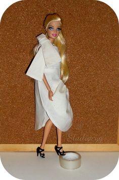 MiniatureCloting: GATHERED DRESS FOR BARBIE-TEXTURED MINI DRESS