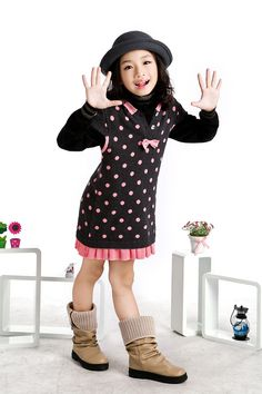 Aliexpress.com : Buy Flower Sweatshirts Little Girls Long Sweaters Short Sleeve Dot Printed, Free Shipping K0335 from Reliable Girls Long Sweaters suppliers on SICIBAY - Kids' Clothing:Selling for Donating