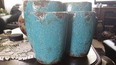 blauwe potten