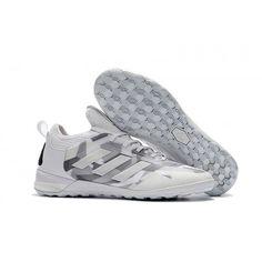 outlet store f45f8 72262 Adidas ACE Tango 17+ Purecontrol IC Fotbollskor Silvervit Grå