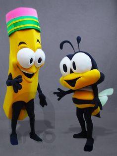 Botargas de Animales: INSECTOS Lápiz y Abeja Pequeña ¡Conoce más modelos de botargas de animales e insectos aquí!: http://www.grupoarco.com.mx/venta-de-botargas/botargas-de-animales-en-mexico/