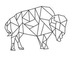 Geometric Buffalo Image
