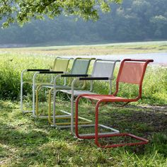 Thonet is launching an outdoor range of cantilever chairs by Mart Stam, Marcel Breuer and Ludwig Mies van der Rohe, reveals CEO Thorsten Muck in this movie