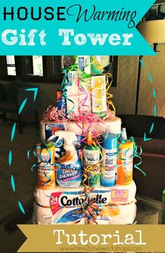 housewarming-gift-basket. A DIY tutorial on the best house warming gift for friends and family!