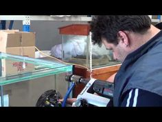 Glass Tank Drilling - YouTube