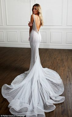 Pallas Couture Fall 2018 Bridal Week is part of Wedding - Pallas Couture Fall 2018 Bridal Week Muslim Wedding Dresses, Dream Wedding Dresses, Bridal Dresses, Wedding Gowns, Backless Wedding, Lace Dresses, Bridesmaid Dresses, Pallas Couture, Gothic Wedding