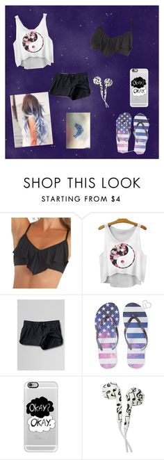 """Untitled #15"" by nerdypanda13 ❤ liked on Polyvore featuring Ella Moss, Lands' End, Aéropostale, Casetify, women's clothing, women, female, woman, misses and juniors"