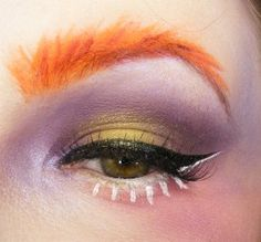 Mad Hatter inspired Look. Eyes close up #madHatter #mad #hatter #aliceinwonderland #halloween #inspiredlook #belial #angelsactuary #beauty #makeup #ombre #Eyebrows