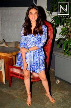 #AditiRaoHydari in a printed little dress by #Plakinger