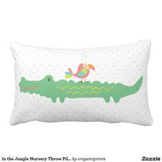 In The Jungle Nursery Throw Pillow Artwork Designed By Origami Prints Price 36 65 Per