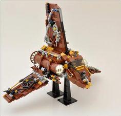 SteamPunk Imperial Shuttle   ReBrick   From LEGO Fan To LEGO Fan