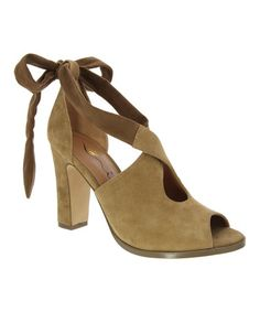 Another great find on #zulily! Camel Serena Suede & Leather Pump #zulilyfinds