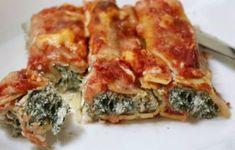 Cannelloni aux épinards et à la ricotta WW, un savoureux plat de cannellonis faciles et simples à réaliser avec une farce à base de ricotta et épinards et nappez d'une délicieuses sauce tomate.