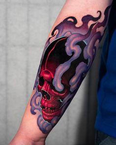 Dope Tattoos, Skull Tattoos, Black Tattoos, Body Art Tattoos, Tattoos For Guys, Leg Tattoos, Tatoos, Skull Tattoo Design, Tattoo Design Drawings