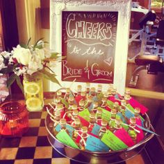 Still love this goody table from the Fiesta themed couples wedding shower.
