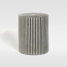 Stripe Inlay Side Table