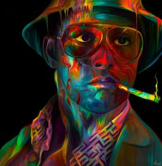 I lovvve this painting of jd in fear and loathing in las vegas