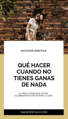 Qué hacer cuando no tienes ganas de nada. #superaciónpersonal #motivación #mente #autoayuda #psicologia #inspiración #bienestar #desarrollopersonal #manifestación #leydeatracción #pensamietos #positivo #positivismo Bussines Ideas, Spiritual Health, Life Motivation, Study Tips, Self Improvement, Positive Vibes, No Time For Me, Personal Development, Coaching