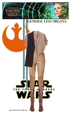 """""""Star Wars: The Force Awakens (Leia Organa)"""" by the-modern-girls-handbook ❤ liked on Polyvore featuring Xirena, Balmain, Theory, Burberry, starwars and contestentry"""