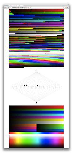 24 BIT RGB colour palette time corrupt reconstruction