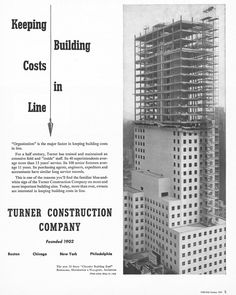 Keeping Building Costs In Line - Turner Construction Company