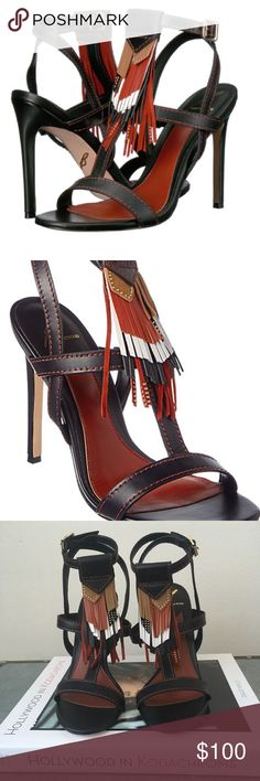 """BRIAN ATWOOD FABIA LEATHER SANDALS THESE SEXY FLIRTY PAIR WILL FINESSE YOU TO A PICTURE PERFECT FASHION FINISH! 4.5""""HEEL .WITHOUT ORIGINAL BOX . BRAND NEW ! Brian Atwood Shoes"""