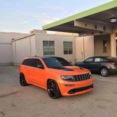 2013 Jeep Grand Cherokee, Grand Cherokee Overland, Jeep Grand Cherokee Srt, Suv Cars, Jeep Cars, My Dream Car, Dream Cars, Orange Jeep, Jeep Srt8