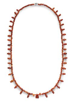 AN EGYPTIAN CARNELIAN AND RED JASPER BEAD NECKLACE NEW KINGDOM, 18TH-20TH DYNASTY, 1550-1070 B.C.