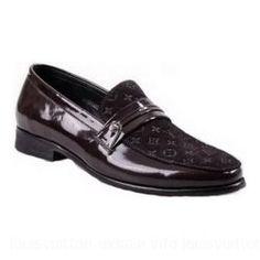 Louis Vuitton-Loafer Sued Damier Monogram Black Brown