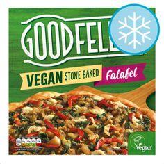 Goodfella's Vegan Falafel Pizza 😎 @tescofood Vegan Friendly ☺️ Fully loaded toppings☺️ Spicy tomato sauce☺️ Light 'n' crispy base ☺️… Uk Supermarkets, Baked Falafel, Spicy Tomato Sauce, Frozen Pizza, Vegan Pizza, Vegan Friendly, Veggies, Stuffed Peppers, Diet