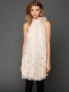 Free People Tulle Paillette Sleeveless Dress