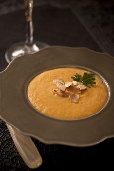 Soupe de potiron carottes aux amandes