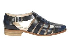 Womens Casual Shoes - Hotel Bustle in Navy Leather from Clarks shoes