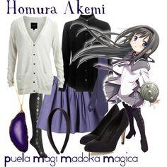 """Homura Akemi, from Puella Magi Madoka Magica-- REVISITED"" by blackrabbitmegapig on Polyvore"