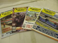 RAILROAD MODEL CRAFTSMAN! MIXED YEARS! LOT OF FOUR ISSUES! AS IS!