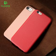 FLOVEME Leather Case For iPhone 6 6S 7 Plus Full Coverage Shockproof Cover  For iPhone 7 3f34efdc9b