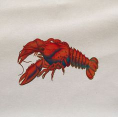 red lobster   Printed Fabric Panel Make A Cushion Upholstery Craft