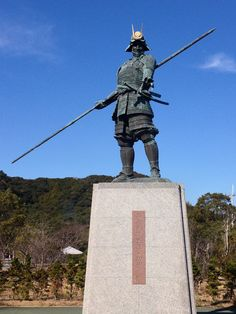 Statue of the Sengoku warrior Chosokabe Motochika