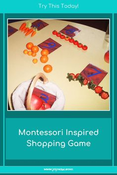 Teach your toddler to count with this Montessori inspired shopping game. Counting For Toddlers, Educational Activities For Toddlers, Space Activities, Games For Toddlers, Kids Learning, Shopping Games For Kids, Card Games For Kids, Math For Kids, Fun Math