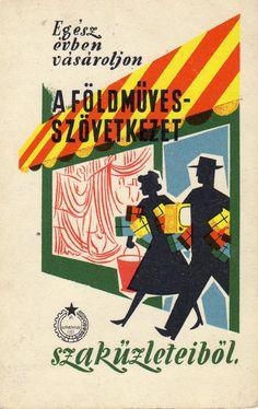 Hungarian Pocket Calendar Cards. Földműves-szövetkezet. 1960.