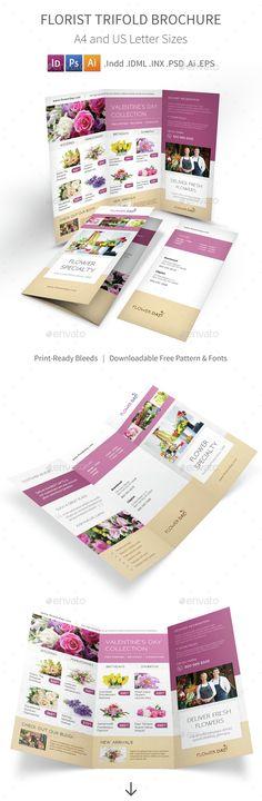 Florist Trifold Brochure Template. Download here: http://graphicriver.net/item/florist-trifold-brochure-2/14922699?ref=ksioks
