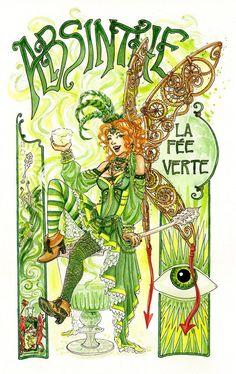 Absinthe Fairy Print [A4 size]