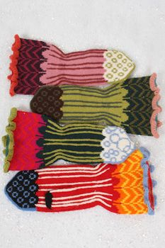 Jaunty Pattern, Knitted Mitten. Pinned from Judy's Colors. Available as pdf pattern, kit, yarn on website. Click through for info.
